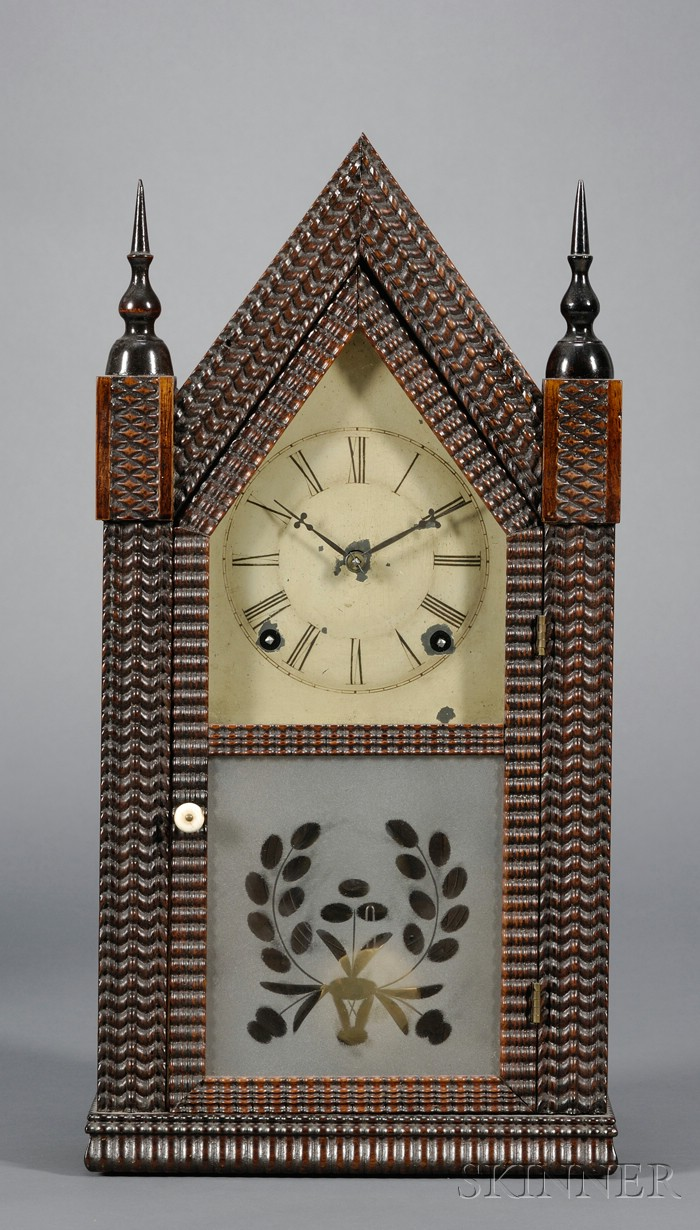 JC Brown Gothic Clock , Skinner, Inc