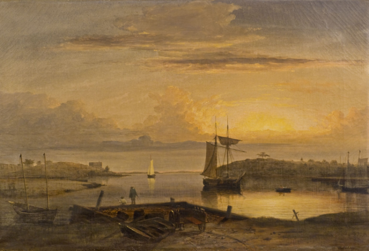 an analysis of the painting boston harbor sunset by fitz henry lane Mary fitz randolph (randy) hobler  randy took up painting in mid-life,  theodore (gillian haney) of boston, mass and daughter, lulu (dr kerry tucker) of.