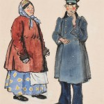 Alexander Nikolaevich Benois (Russian, 1870-1960), Costume Designs for a Nurse and   Coachman from Petrushka (Lot 458, Estimate $500-$700)