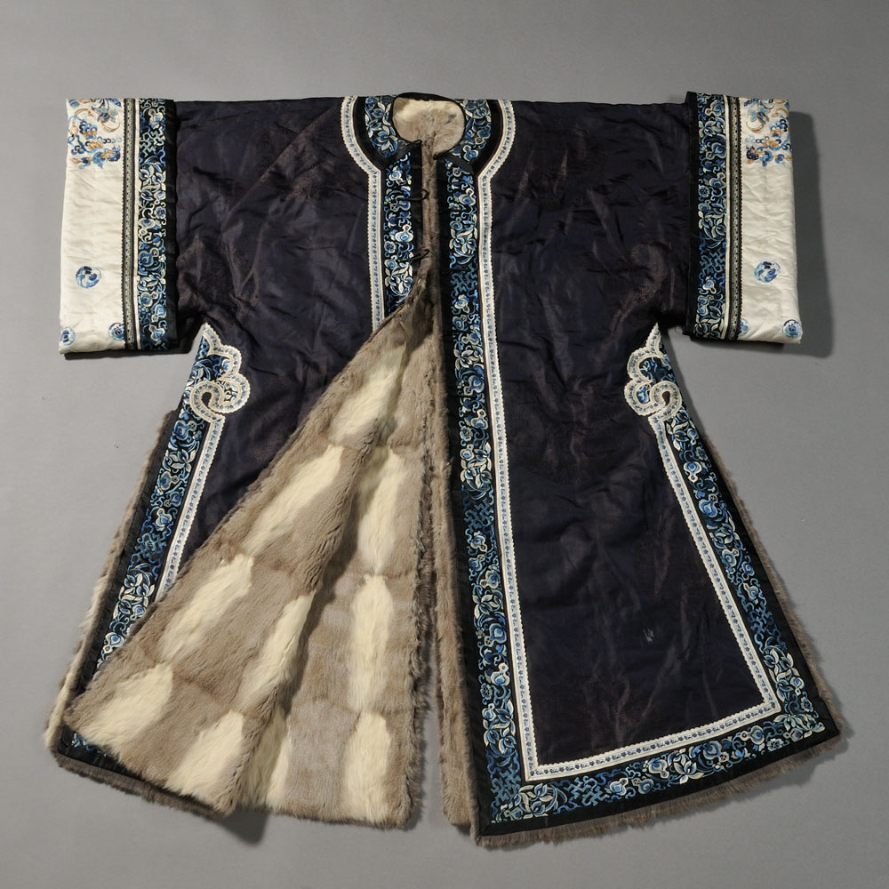 Chinese Textile Auction Dragon Robe Skinner