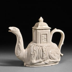 Staffordshire Camel Teapot