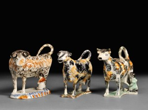 Staffordshire Earthenware Cow Creamers