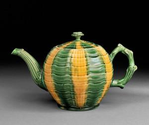 Staffordshire Melon Teapot