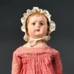 Alabama Molded and Painted Cloth Doll, America, early 20th century (Lot 11,   Estimate $2,000-$2,400)