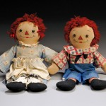 Pair of Georgene Raggedy Ann and Andy Awake/Asleep Dolls, 1938-1963 (Lot   126, Estimate $600-$800)