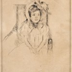 Mary Cassatt (American, 1843-1926) Margot Wearing a Large Bonnet, Seated in an Armchair, c. 1904 (Lot 36, Estimate $1,000-$1,500)