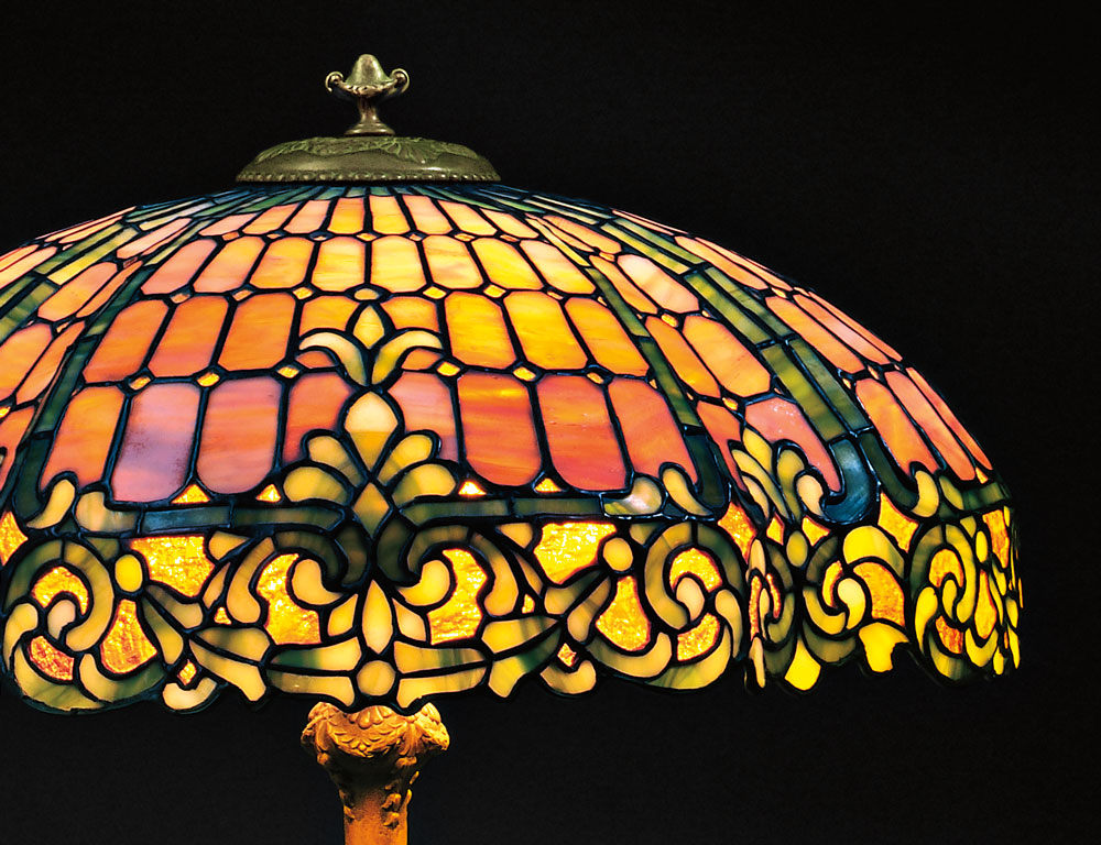 Duffner & Kimberly Mosaic Glass Table Lamp  New York, early 20th century (Lot 41, Estimate $8,000-$12,000)