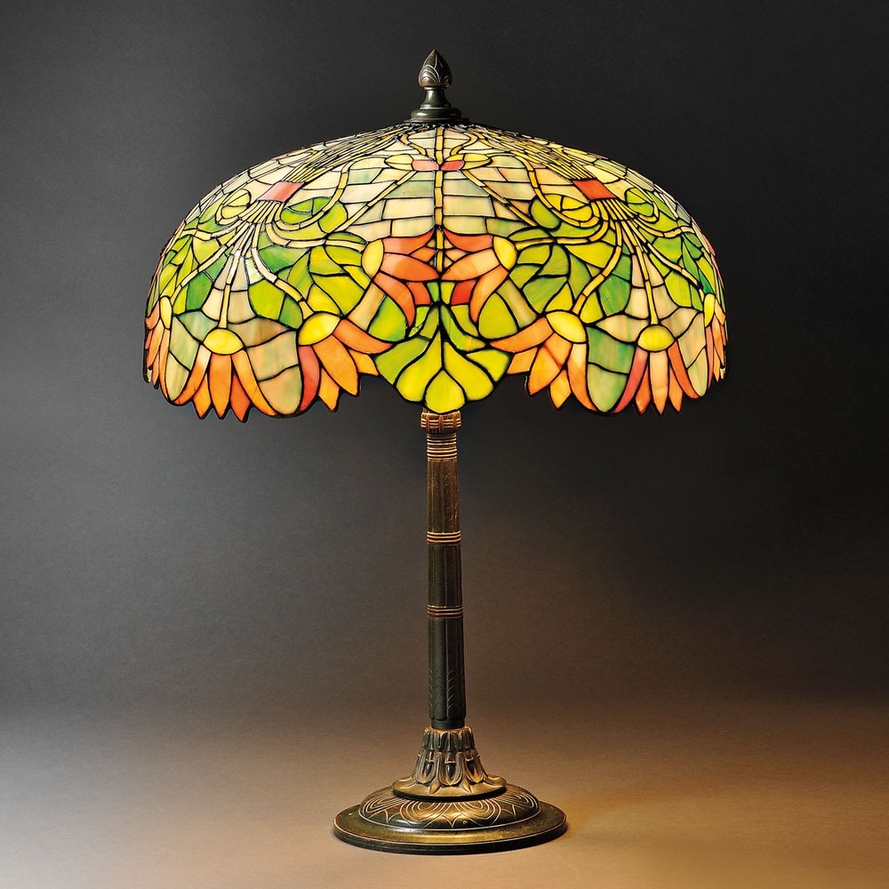 Casa cortes lush mosaic art glass 25 inch table lamps set of 2 - Filename 2661b 5 Mosaic Glass Lamp Gorham Jpg