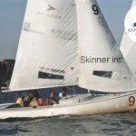 A Skinner team participates in the Corporate Challenge Regatta to support Courageous Sailing