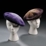 Two tweed berets, Chanel, Paris, late 1960s