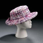 Lavender, white, purple, and pink tweed hat, Chanel, Paris, late 1960s