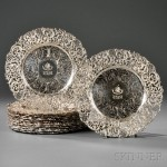 Eighteen Sterling Silver Dinner Plates Retailed by Caldwell & Co. (Lot 13,Estimate $15,000-$20,000)