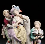 Examples of Meissen Figural Groups (Lots 681-683)