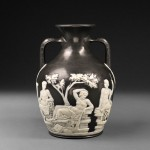 Wedgwood Charles Bellows Solid Black Jasper Portland Vase, (Lot 977, Estimate $2,000-$4,000)
