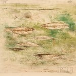 Zao Wou-Ki (Chinese/French, 1921-2013) Les poissons, 1952 (Lot 181, Estimate   $3,000-$5,000)