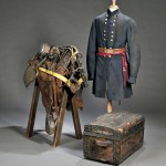 Frock Coats, Saddle, and Trunk of Col. Thomas F. Gallagher, America, c.   1861-65 (Lot 160, Estimate $3,000-$6,000)