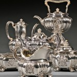 Six-piece Tiffany & Co. Sterling Silver Tea and Coffee Service, New York, 1873-85 (Lot 126, Estimate $3,000-$5,000)
