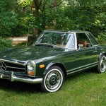Sold for $32,588. 1969 Mercedes Benz 280SL Coupe Roadster, VIN# 006366