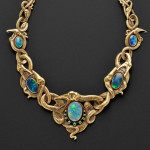 Art Nouveau 18kt Gold, Opal, and Demantoid Garnet Necklace (Lot 378,   Estimate $20,000-$30,000)
