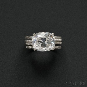 Fine Platinum and Diamond Solitaire, Taffin (Lot 580, Estimate $200,000-$300,000)