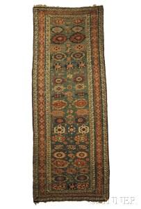 Soumak Long Rug, Northeast Caucasus, mid 19th century (Lot 28, Estimate $2,000-$2,500)