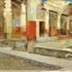British School, 19th Century, Interior Ruins of Pompeii (Lot 210, Estimate $800-$1,000)