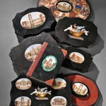 Micromosaic-inlaid Paperweights (Lots 251-258)
