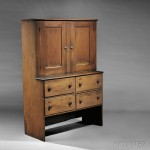 Shaker Butternut and Pine Herb Cupboard, North Family, New Lebanon, New York, c. 1860 (Lot 106, Estimate $40,000-$60,000)