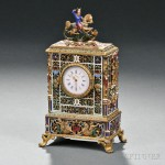 Continental Gilt-metal and Enamel Table Clock, 19th/20th century (Lot 197, Estimate $2,000-$3,000)