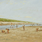 William Helfferich (European, Late 20th Century), Sunny Day at the Beach (Lot 1193, Estimate $400-$600)