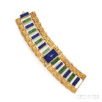 Lot 613 – 18kt Gold and Hardstone Cuff Watch, Piaget – Estimate: $8,000 – $10,000