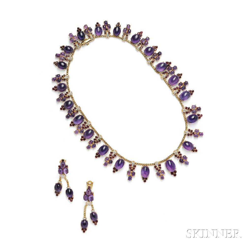 Lot 591 – 18kt Gold, Amethyst, and Ruby Suite, Black, Starr & Frost – Estimate: $15,000 – $20,000
