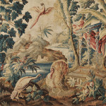 [Detail] Aubusson Tapestry, France, 18th century (Estimate $10,000-$12,000)