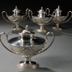 Four George III Sterling Silver Covered Sauce Tureens, London, 1778-79 (Lot 4, Estimate $4,000-$6,000)