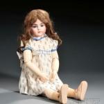 Bru Jne R French Bisque Socket Head Doll (Lot 1108, Estimate $2,000-  $3,000)