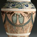 Doulton Lambeth Florence Barlow Decorated Stoneware Vase
