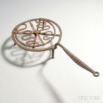 Small Wrought Iron Revolving Broiler, America, late 18th/early 19th century (Lot 41, Estimate $300-$500)
