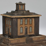 Painted Wooden Architectural Bank, 19th/20th century (Lot 517, Estimate $300-$500)