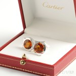 Cartier, Sterling Silver and Citrine Cuff Links (Lot 8, Estimate $250-$350)