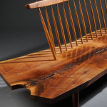 George Nakashima (1905-1990) Conoid Bench, American black walnut and hickory, New Hope, Pennsylvania, 1973 (Estimate $30,000-$40,000)