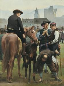 Joseph Auguste Rousselin (French, 19th Century), La Foire de la St.-Martin à Pau (Lot 459, Estimate $30,000-$50,000)