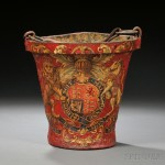 English Leather Fire Bucket, 19th century (Lot 1312, Estimate $200-$300)