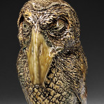 """Martin Brothers Stoneware """"Wally"""" Bird Jar and Cover, England, 1882 (Lot 218, Estimate $10,000-$15,000)"""