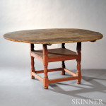 Salmon/Red-painted Chair Table, (Lot 107, $3,000-$5,000)