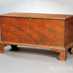 Paint-decorated Six-board Chest, (Lot 165, $400-$600)