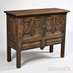 Jacobean-style Carved Oak Cupboard, England, 19th/20th century (Lot 130, Estimate $300-$500)