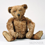 Early Articulated Mohair Teddy Bear, possibly Steiff, early 20th century (Lot 169, Estimate $800-$1,200)