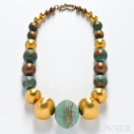 Oxidized Copper and Brass Bead Necklace, Robert Lee Morris (Lot 1060, Estimate $800-$1,200)
