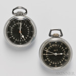Two GCT Navigation Pocket Watches and Watch Carrying Case, 1940s (Lot 1022, Estimate $400-$600)
