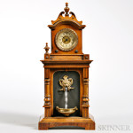 Animated Water Fountain Clock, possibly Germany, late 19th century (Lot 1043, Estimate $300-$500)